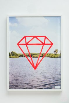 fluor diamond poster by Zilverblauw
