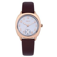 Oasis - Ladies Brown Leather Gold Plated Watch - B1362 - RRP: £35.00 - Online Price: £29.75