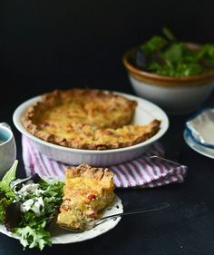 Bacon, Leek, and Roasted Red Pepper Quiche | Fork Vs Spoon