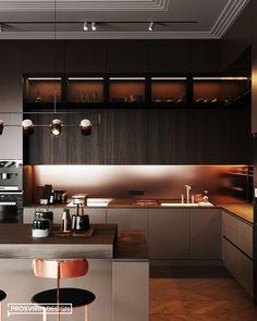 Kitchen Room Design, Kitchen Cabinet Design, Kitchen Sets, Modern Kitchen Design, Kitchen Layout, Home Decor Kitchen, Interior Design Kitchen, Kitchen Furniture, Furniture Layout
