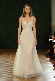 Sparkling Bodice A-Line Wedding Dress | Watters Spring 2015 | See More! http://heyweddinglady.com/bridal-market-2015-three-fab-wedding-dress-trends/
