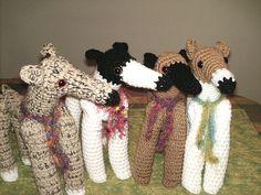 Crochet greyhounds!