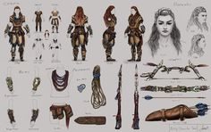 Aloy's Costume Study Character Sheet Digital Study