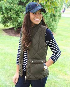 Hi everyone! Today I'm wearing the perfect outfit for fall. I love wearing puffer vests in the fall, and I love this olive green one from ...