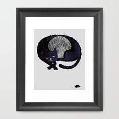 Feline Nocturnus Framed Art Print by Wharton - $37.00
