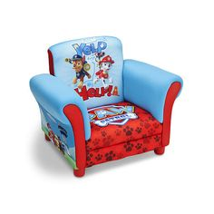 Delta Children Paw Patrol Upholstered Chair | Toddler furniture ...