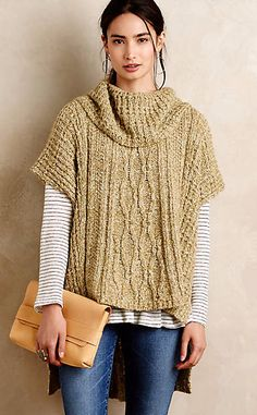 Hedera Cable Poncho #anthrofave