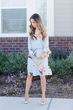 Merrick's Art || Blue Floral Dress