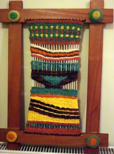 Telar Mural de Lucrecia Textiles, Collage Frames, Weaving Projects, Tapestry Weaving, Fabric Art, Textile Art, Sculpture Art, Fiber Art, Loom