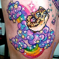 Obsessed with this style. It's like Lisa Frank on crack.