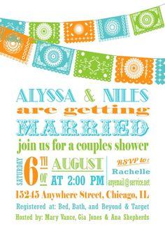 Papel Picado Fiesta Wedding Shower Invitation