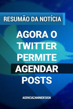 O Twitter disponibilizou na tarde da última quinta-feira (28) a função de agendar a publicação de tweets de forma automática.  Ela já está presente na versão web, mas ainda não foi implementada em celulares ou tablets.  #twitter #tweet #thread #socialmedia #post #socialmedia #redesocial #criadordeconteudo #agendamento #produtividade #gestaodetempo #vendas #tempo Twitter, Time Management, Gift, Productivity, Shape, Verses, News