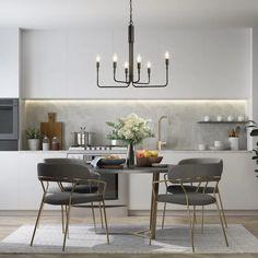 Kitchen Pendant Lighting, Dining Room Lighting, Dining Room Table, Ceiling Pendant, Light Pendant, Candle Chandelier, Black Chandelier, Chandeliers, Christmas Chandelier