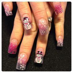 Pink winter by Oli123 - Nail Art Gallery nailartgallery.nailsmag.com by Nails Magazine www.nailsmag.com #nailart