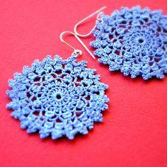 More pretty #crochet jewellery #blue