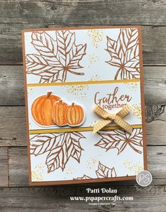 Thanksgiving Greeting Cards, Fall Cards, Christmas Cards, Holiday Cards, Pumpkin Cards, Paper Pumpkin, Leaf Cards, Beautiful Handmade Cards, Stamping Up Cards