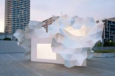 Origami Triangle Architecture - The Bloomberg Pavilion is Inspired by Folded Paper Structures (GALLERY)