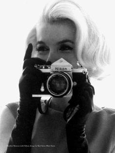 Marilyn Monroe and a Nikon
