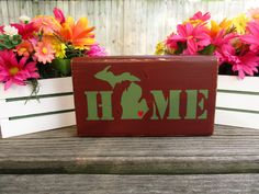 Wood Home Decor Block ~ Custom Home Decor ~ State Pride Decor ~ Personalized…