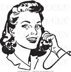 Image result for talking on the phone clipart black and white