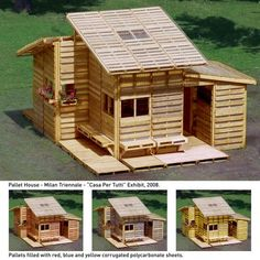 The Pallet House i wanna build Outdoor Projects, Pallet Projects, Shed Building Plans, Pallet House, Tiny House Bathroom, Pallet Creations, Tiny House Movement, Little Houses, Pallet Furniture
