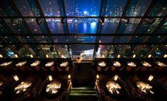 Aqua, Kowloon, Hong Kong. Great views of the evening light show on Hong Kong Island