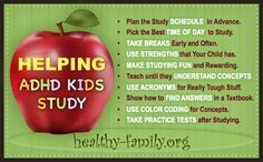 helping ADHD kids study: Get 10 tips for parents to use at home with their ADHD child.