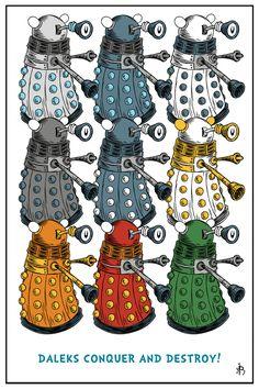 Daleks Conquer And Destroy! by DrFaustusAU.deviantart.com on @DeviantArt