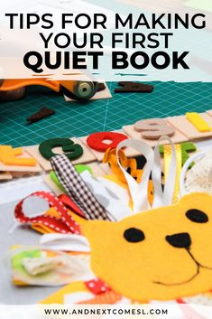 Find out how to make your first quiet book with awesome tips then browse tons of quiet book page ideas and patterns. Don't forget to grab a copy of the free planning guide so that you can make an awesome busy book in no time!