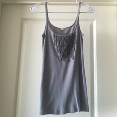 J. Crew S grey tank top J. Crew S grey tank top. Still in good condition. Great to wear with shorts for summer! J. Crew Tops Tank Tops