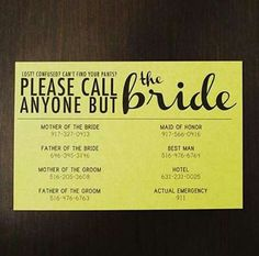 Wedding please call