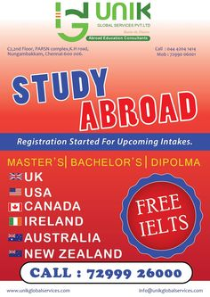 STUDY ABROAD Have you been thinking about going abroad and don't have an idea where to start? This is where we step in and make you take smart and wise decisions towards an education abroad.