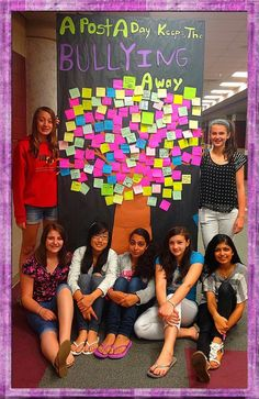A Post-It a Day, Keeps the Bullying Away… At Mount Olive Middle School… Middle School Counselor, Elementary School Counseling, School Social Work, Elementary Schools, Anti Bullying Activities, Bullying Lessons, Counseling Activities, Bullying Prevention, Psicologia