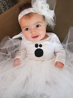 diy baby girls halloween costumes diy baby ghost halloween costume tutorial revealed - Halloween Costume For Baby Girls