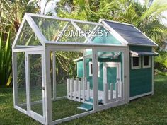 Chicken Coop - - Chicken Coop ne rabbit hutch with alterations. Building a chicken coop does not have to be tricky nor does it have to set you back a ton of scratch. Diy Cat Enclosure, Rabbit Enclosure, Bunny Cages, Rabbit Cages, Building A Chicken Coop, Diy Chicken Coop, Bunny Hutch, Rabbit Hutches, Outdoor Cats