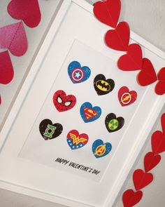 Cute superhero FREE Valentine printable art work from Rockin' Boys Club!