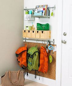 Small Space Storage Solutions -need to do this before the kids go back to school.  mom.me