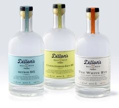Dillon's Small Batch Distillers, Designed by Insite Design in Alcohol labels/packaging