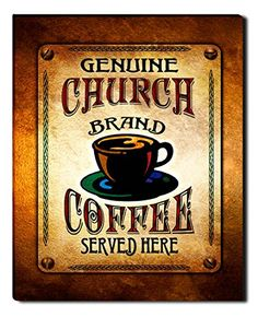 Church Brand Coffee Gallery Wrapped Canvas Print ZuWEE…