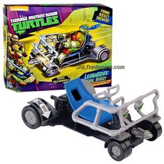 """Playmates Year 2014 Nickelodeon Teenage Mutant Ninja Turtles Action Figure Vehicle Set - Pavement Pounding Speed Machine LEONARDO'S PATROL BUGGY with Rocket """"Grenade"""" Missile Launcher and 1 Missile (Figure is not Included)"""