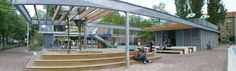 Om de hoek: een speeltuin het heerlijke koffie (en sapjes en ijsjes en broodjes etc)  http://www.paviljoenvanbeuningen.nl/