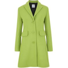 Moschino Cheap and Chic Lime green wool blend coat found on Polyvore