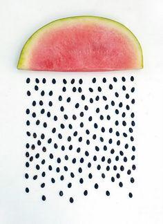 Watermelon rain drops