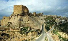 Kerak Castle - Crusader castle ruins in Jordan