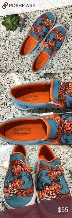 4070acda2558f4 BucketFeet Wipeout Sneakers Slip On Shoes Size 9 Awesome preowned  condition. Only worn a couple