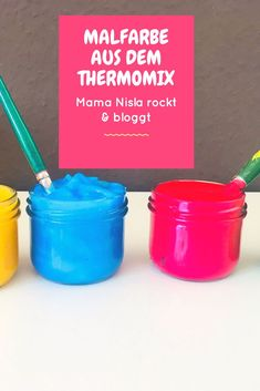Malfarbe aus dem Thermomix – ungiftig, einfach, toll Non-toxic paint from the Thermomix itself. Simple, great, easy to do. Diy Crafts For Adults, Diy Home Crafts, Easy Diy Crafts, Diy For Kids, Kids Crafts, Non Toxic Paint, Diy Wall Art, Diy On A Budget, New Baby Products