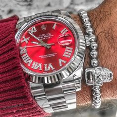 Red Hot Stainless Datejust $8000 Call Us or Email for Info
