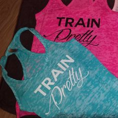 Pretty Colored Workout Tanks.