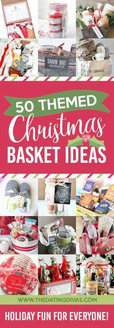 So many cute Christmas basket ideas!!! Love how creative they are for guys girls and kids!