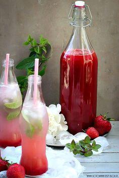 Strawberry rhubarb syrup